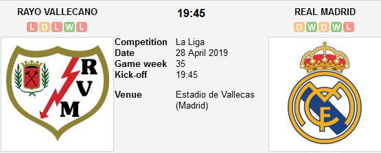 rayo vallecano vs real madrid live
