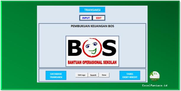 Aplikasi Buku Kas Umum (BKU) Bendahara BOS