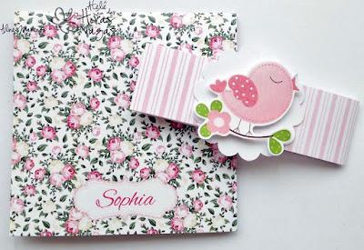 convite artesanal infantil floral provençal rosa passarinho jardim encantado menina delicado