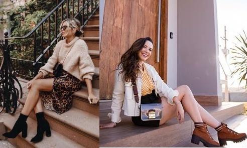 Emily Luciano, Taciele Alcolea, Looks com bota 2019