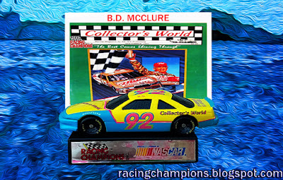 B.D. McClure #92 Racing Champions 1/64 NASCAR diecast blog value age die magazine