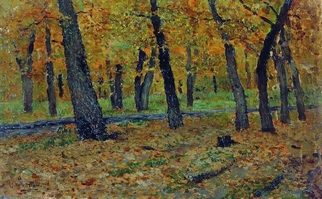 Исаак Ильич Левитан - Дубовая роща. Осень. 1880