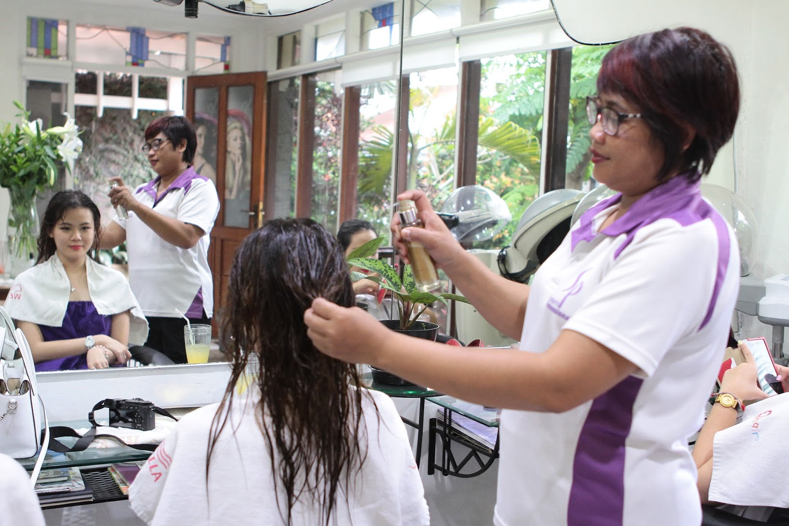 hair, treatment, keratin, wella, luxeoil, bandung