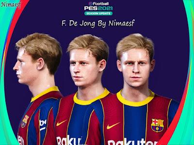 PES 2021 Faces Frenkie de Jong by Nimaesf