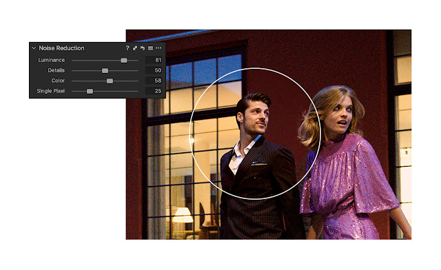 Advanced noise reduction feature in Capture One is highly advanced and very successful