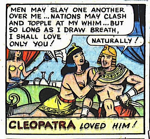 Cleopatra and her 1940s boyfriend