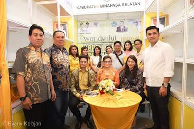 Bupati Tetty Paruntu Hadiri Kegiatan Sulut Expo di Jakarta Selatan
