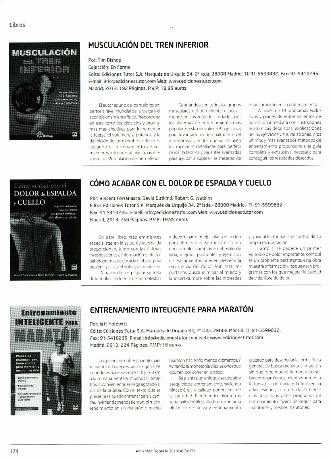 Reseña de los libros Manual práctico para una cadera sana y Manual práctico  para un hombro sano en el la Revista Cuerpomente Julio 2013 ...