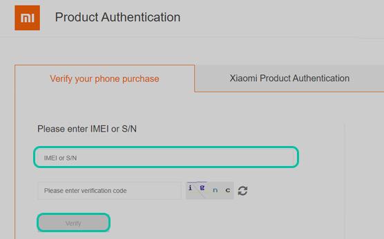 التحقق من Xiaomi هاتف Redmi إصدار عالمي