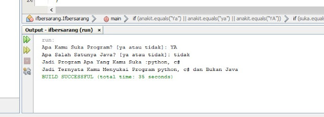 contoh program if bersarang di java netbeans