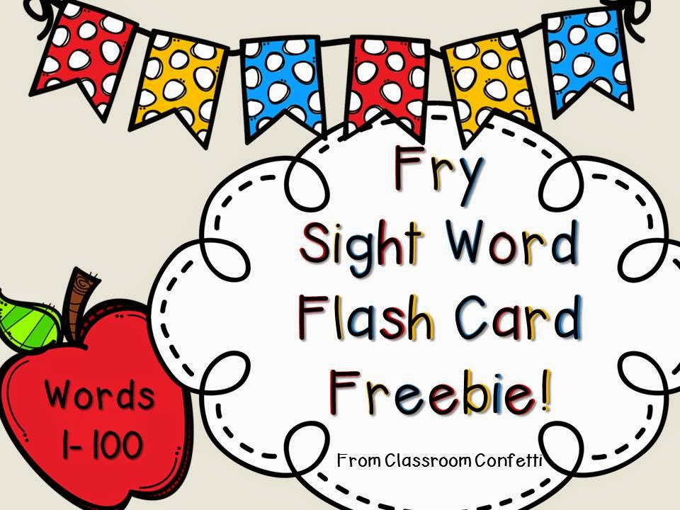 Sight Words and a Freebie! - Classroom Confetti