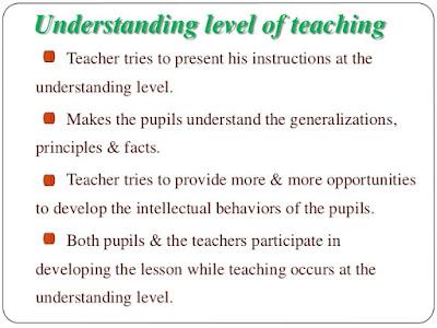 understanding level teaching, 2nd level teaching