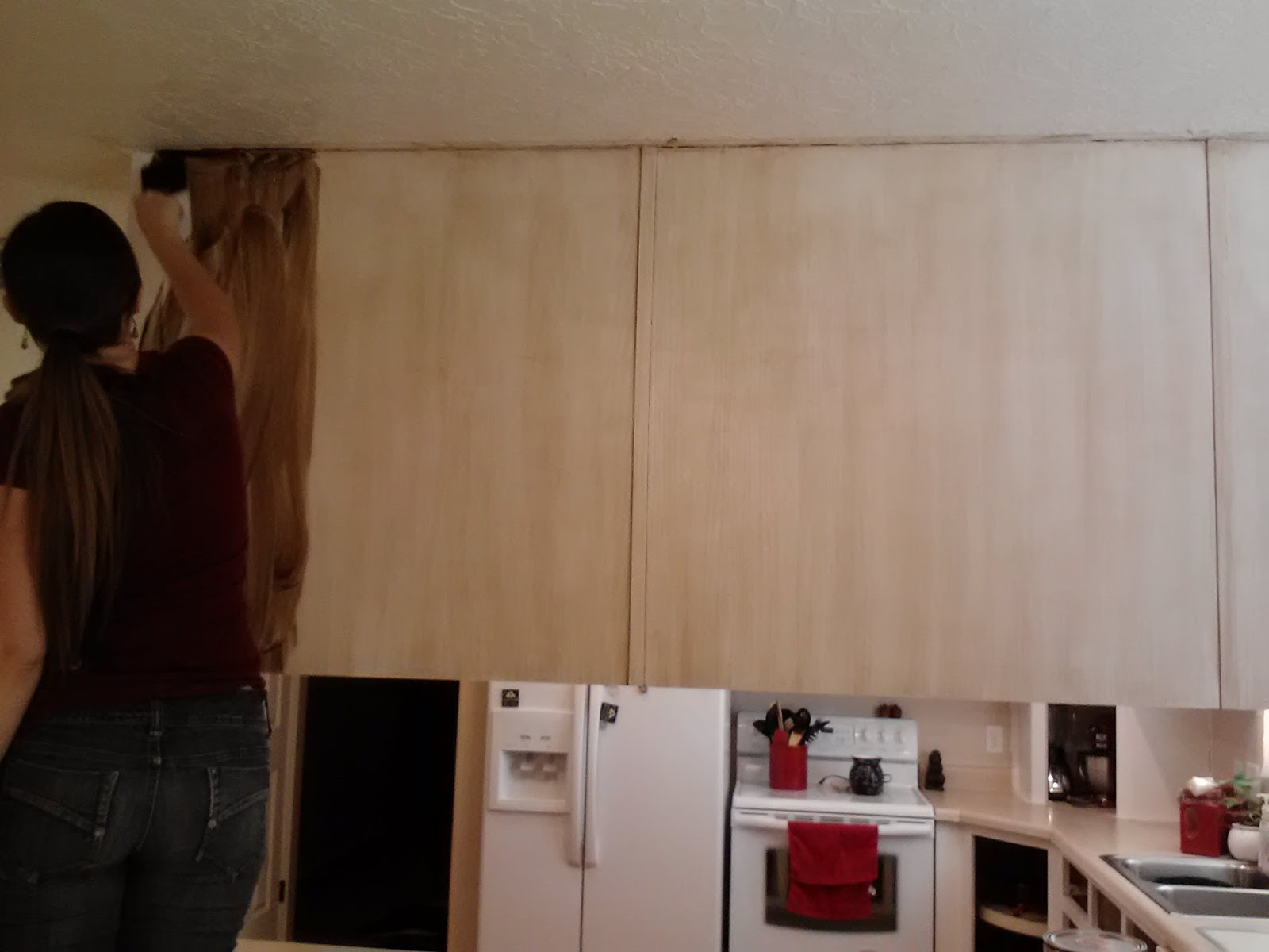 How To Paint Kitchen Cabinets Without Streaks The Petersen Project How I Painted My Kitchen Cabinets