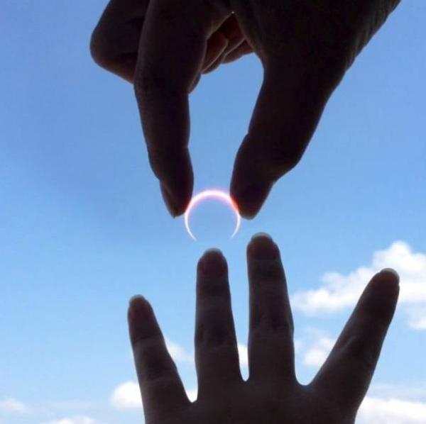 fotos criativas com o sol e a lua