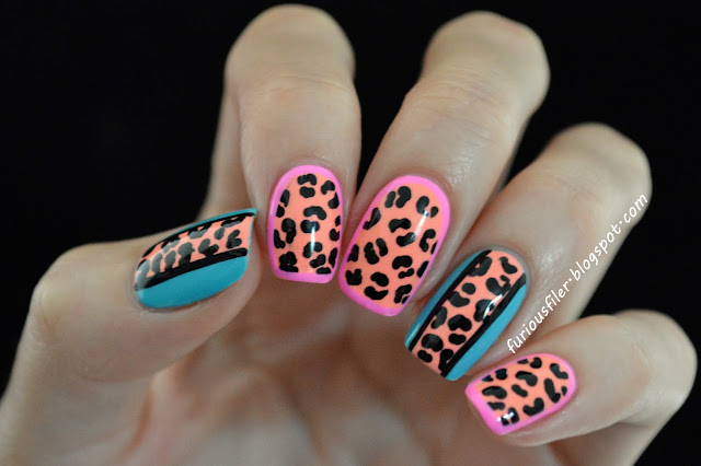 POLISH FOR TANS, leopard print, bright, border