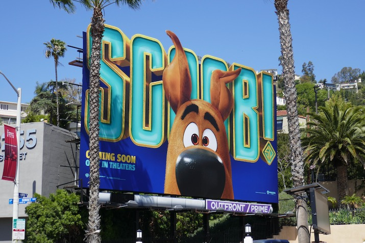 Scoob! movie teaser billboard