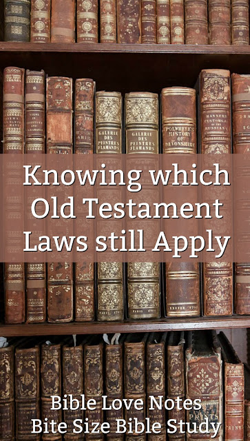 This short Bible study explains the easiest, surest way to know which Old Testament laws apply to New Covenant Christians. #BibleStudy