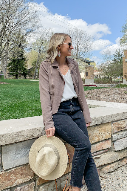 How to Style a Spring Moto Jacket