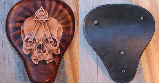 Rusty Knuckles Custom Leather Motorcycle Seat