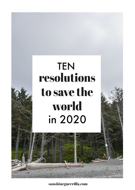 10 Resolutions to Save the World in 2020