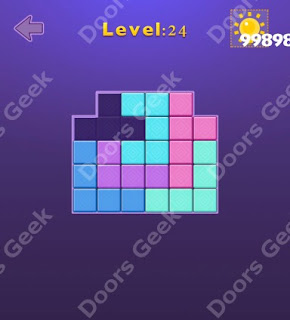 Cheats, Solutions, Walkthrough for Move Blocks Easy Level 24