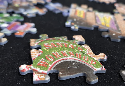Jumbo Games CHristmas special edition jigsaw puzzle close up