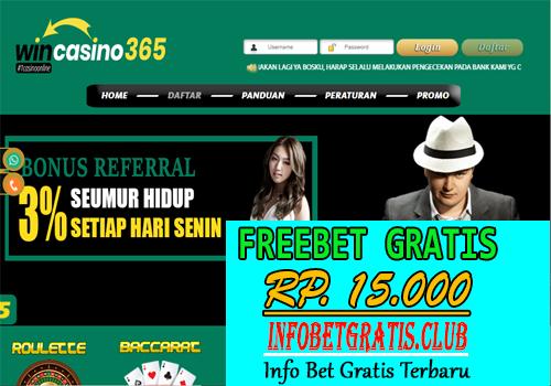 WINCASINO365 FREEBET GRATIS