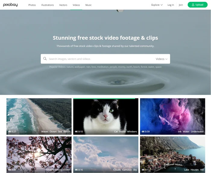 Pixabay is one of the best and popular platform to download free videos