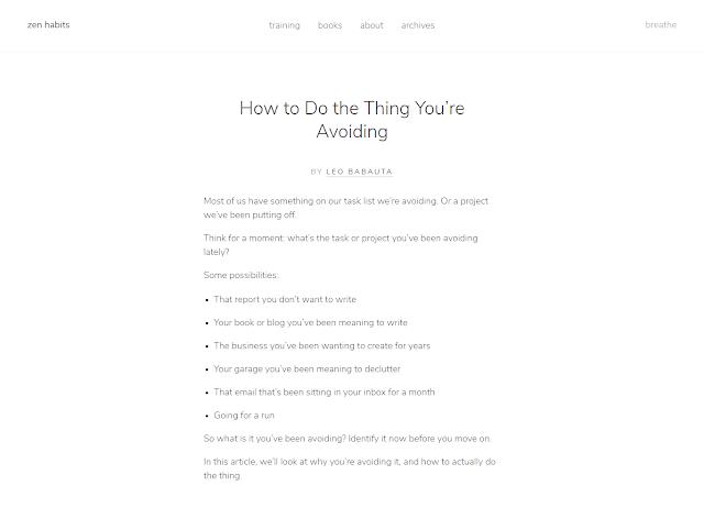 Zen Habits dalam Blog Terbaik versi sactiest