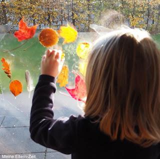 Kleinkind Fensterbild Herbstdeko