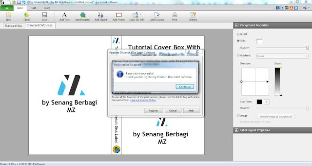 cara aktivasi software disketch disk label
