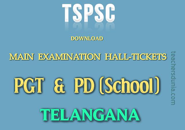 TSPSC-PGT-PD-Main-Examination-Halltickets-Download-2017