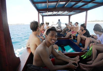 Our boat Gili Trawangan Gili Meno and Gili Air