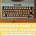 [Printable] NaNo '17 Progress Trackers!