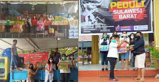 Komunitas Indo' Toraya Serahkan Bantuan Kepada Korban Gempa di Majene Sulawesi Barat