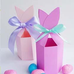 easter bunny ears gift box template DIY tutorial