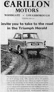 Carillon Motors Herald advert 1966