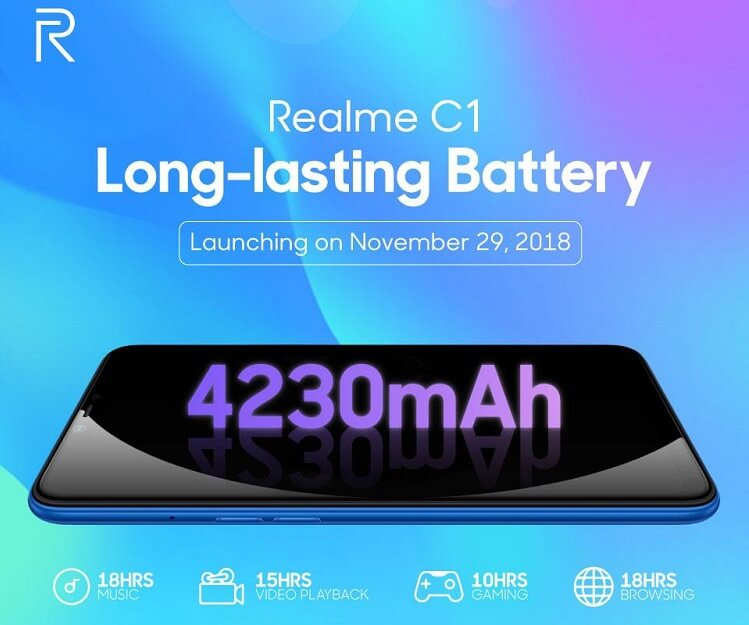 Realme C1 Arriving in the Philippines