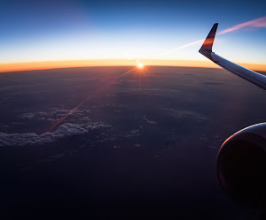Flight sky sunset