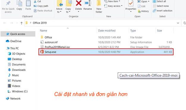 Hướng dẫn cài đặt Office 2019 full Professional Plus 64bit mới nhất a