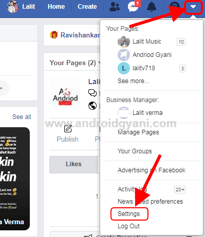 Facebook id delete option
