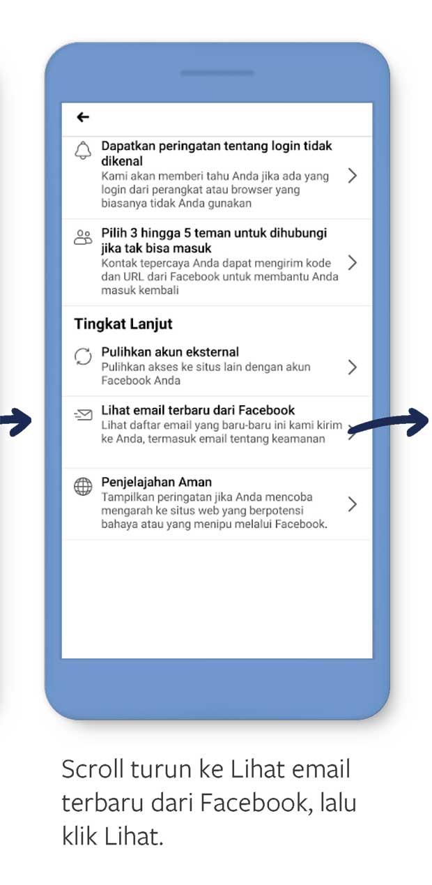 cara cek keaslian email dari facebook