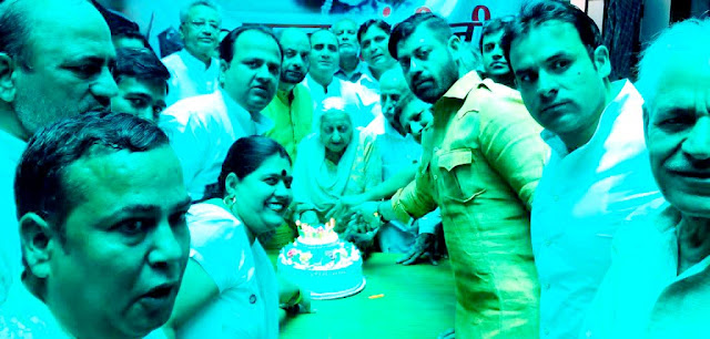 Rahul Gandhi's birthday is celebrated with simplicity by the Congressmen in Faridabad