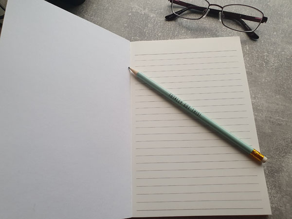 Lined personalised Notebook
