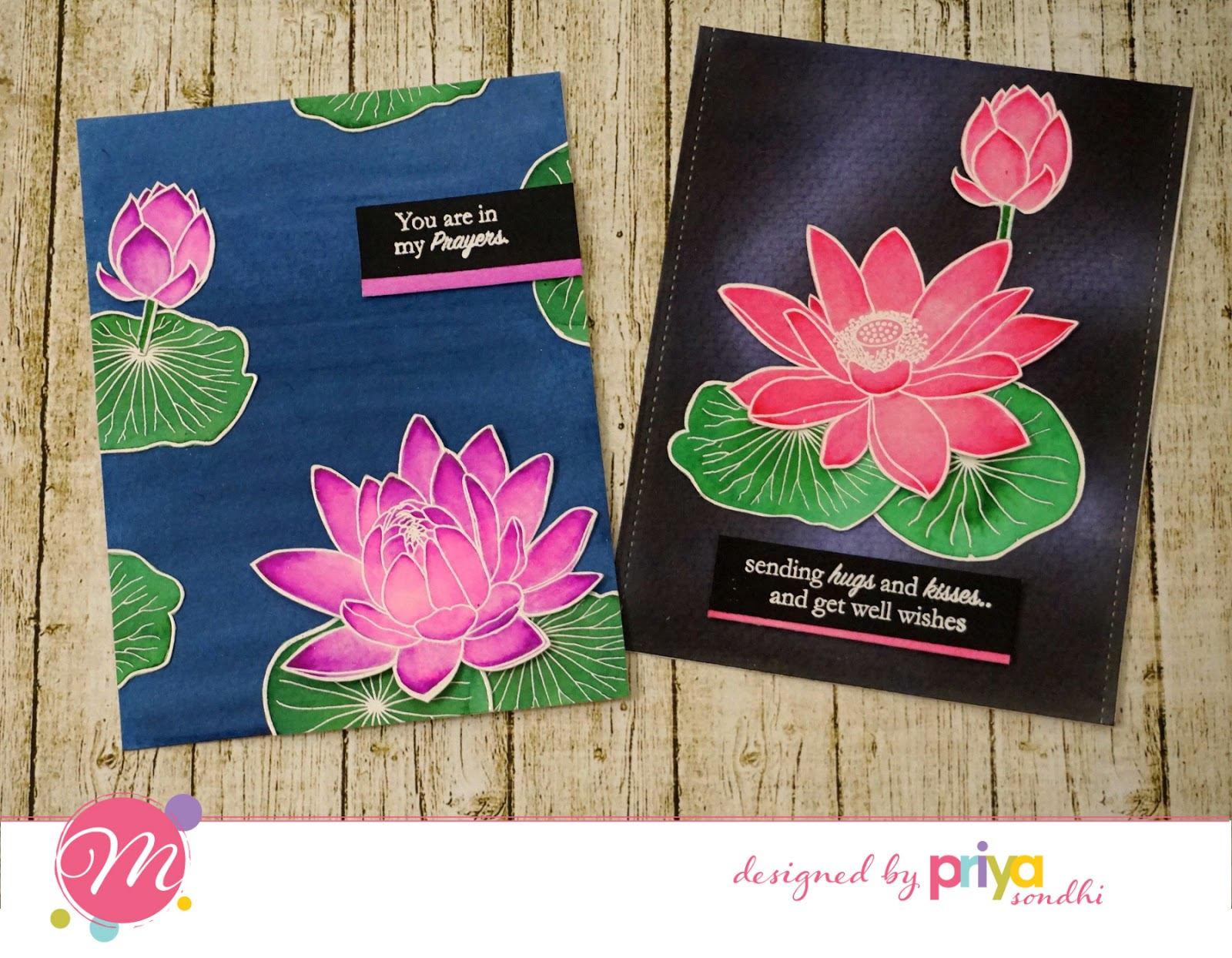 Mudra craft stamps stamp highlights lets party home is and its such a beautiful outlined stamp set with so many images it has lotus flowers buds and big leaves to create stunning water colored cards izmirmasajfo Image collections