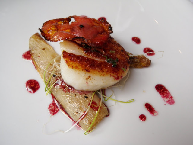 Seared Scallop with Chorizo