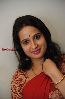 Kannada Actress Lakshmi Hegde Pos in Red Saree at Tab Movie Press Meet  0002.jpg