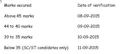TS/Telangana Deecet/Dietcet 2015 Certificate Verification Dates