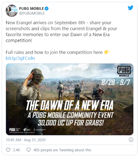 PUBG Mobile Update- PUBG to get a new revamped Erangel map on sept. 8
