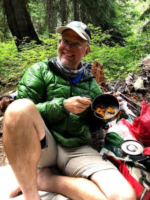 Freefall Enjoying Lasagna